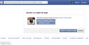 Installez Instagram sur votre Page Facebook