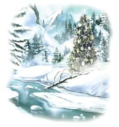 snowy xmas scene [ 1333 x 1600 Pixel ]