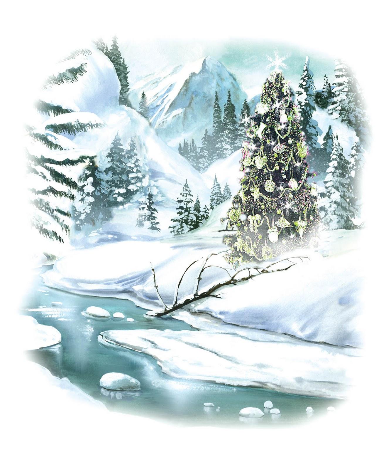 hight resolution of snowy xmas scene