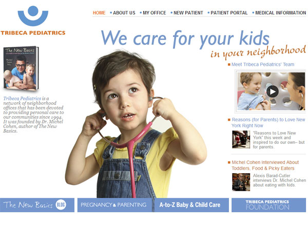 TribecaPediatrics.com Launches Redesigned Website with New Custom Features