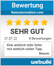 Bewertungen zu naturalsmedizin.com