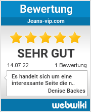 Bewertungen zu jeans-vip.com
