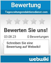 Bewertungen zu tageszeitungsredaktionsdienst.com