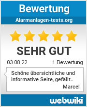 Bewertungen zu alarmanlagen-tests.org
