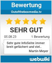 Bewertungen zu outoftheboxmedia.tv