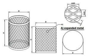 Web Wire Mesh Co.,Ltd._D100mm filter tube