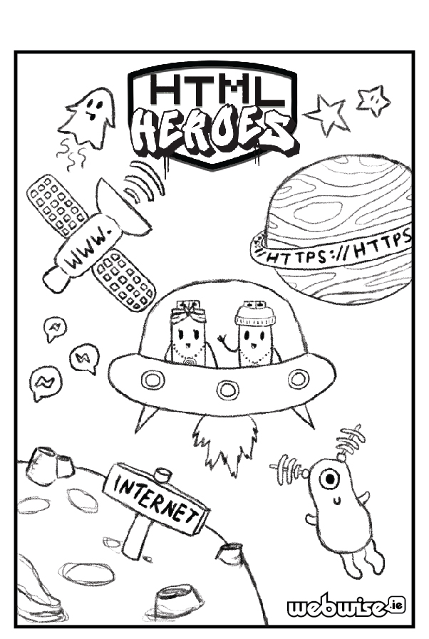 HTML Heroes Colouring Competition