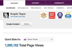 Yahoo One Million Views