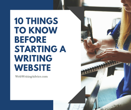10 Things to Know Before Starting a Writing Website