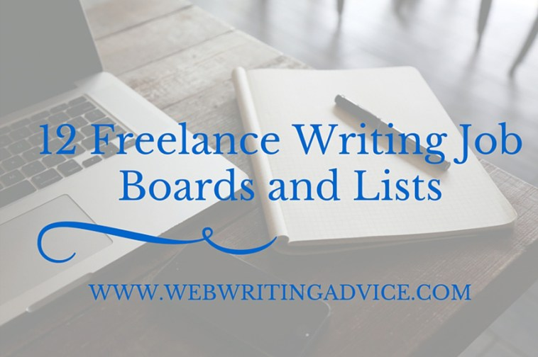 lance writing job boards and lists web writing advice
