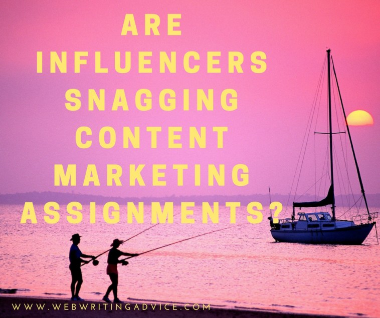 Are Influencers Snagging Content Marketing Assignments?