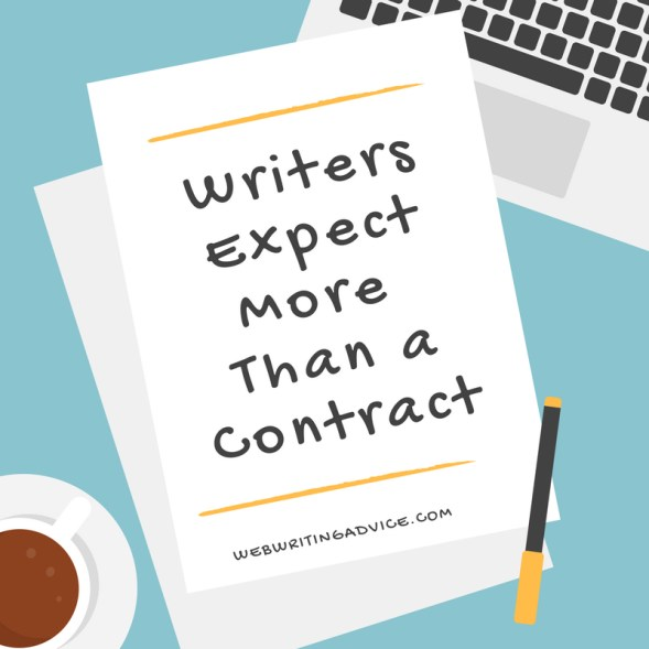 Writers Expect More Than a Contract