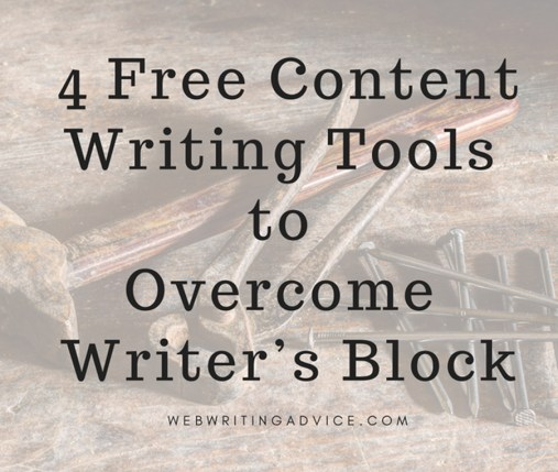 4 Free Content Writing Tools to Overcome Writer's Block