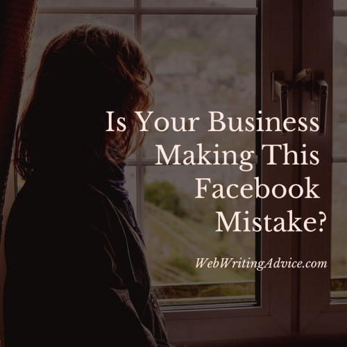Is Your Business Making This Facebook Mistake?