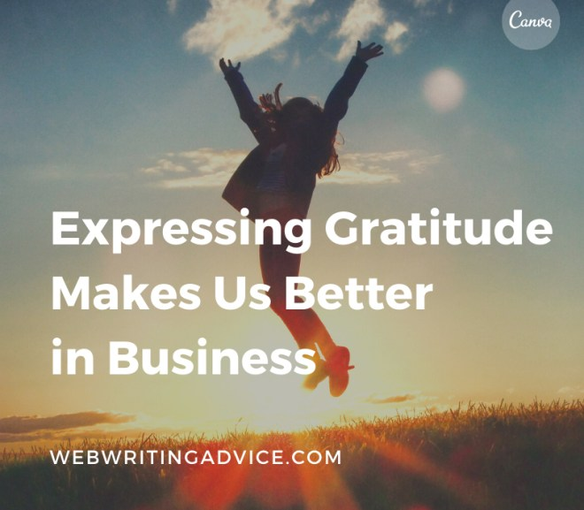 Expressing Gratitude Makes Us Better in Business
