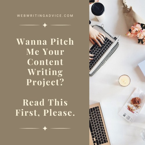 Wanna Pitch Me Your Content Writing Project? Read This First, Please