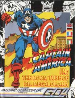 Captain America in: The Doom Tube of Dr. Megalomann (Caja C64)