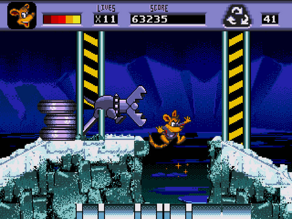 awesome possum kicks dr. machino's butt! (u) [!]007