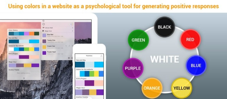using colors in a website