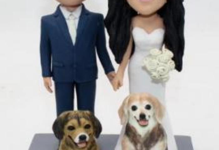 Custom Wedding Cake Topper With Dogs 2928 13900 Custom