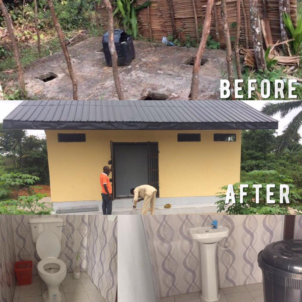We build a cottage toilet with our own hands