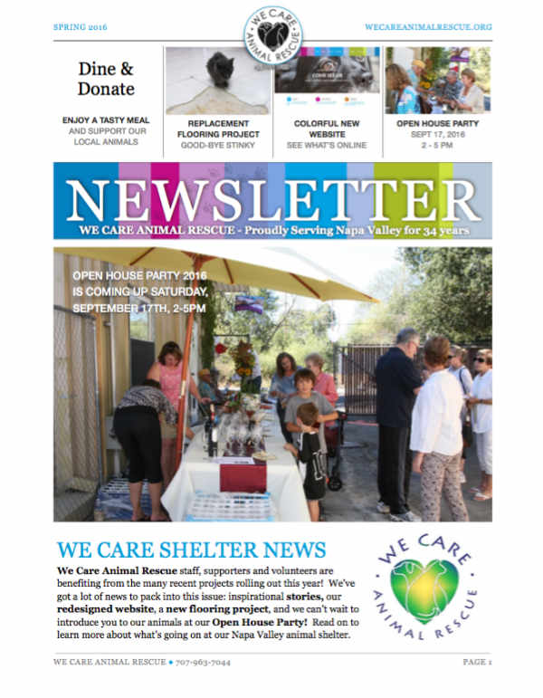 Download We Care Newsletter Spring 2015