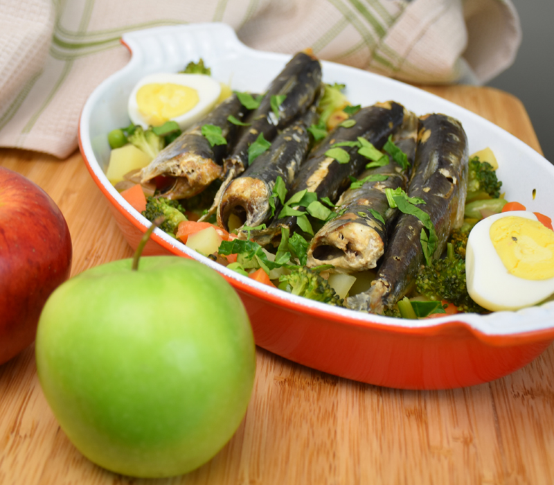 Poached Sardine Surprise for Dogs