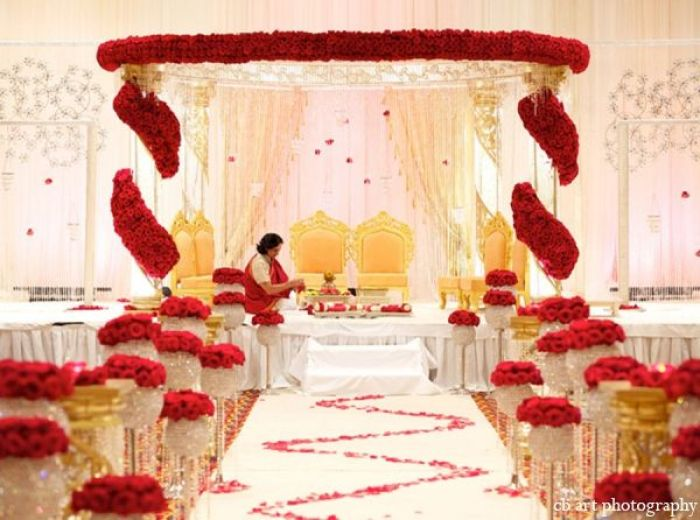 indoWestern Weddings Mandap