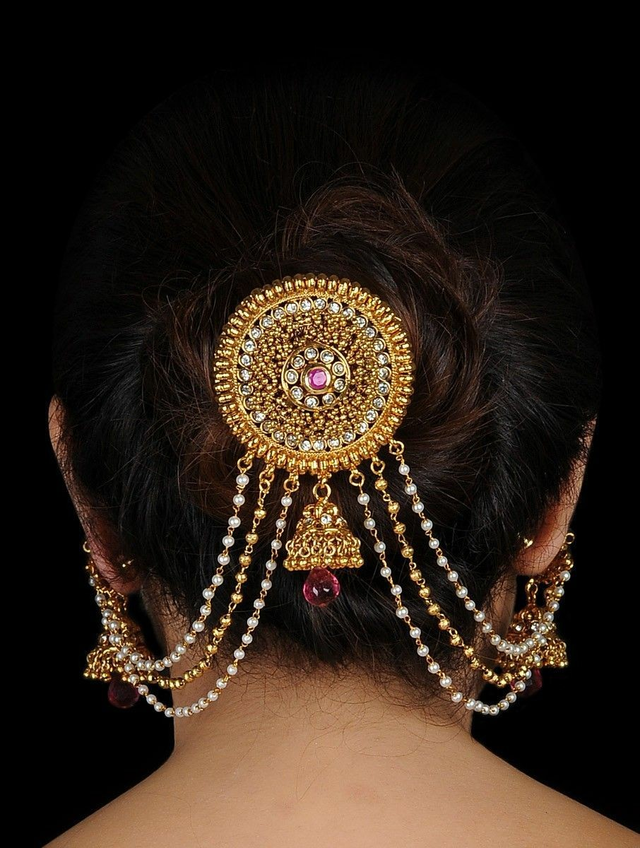 Bun with jewels