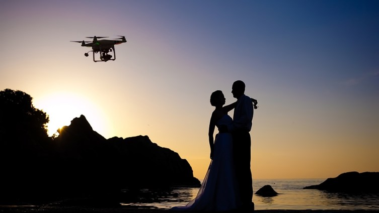 drone photography in weddings