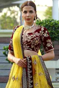 Brides who wore yellow lehenga