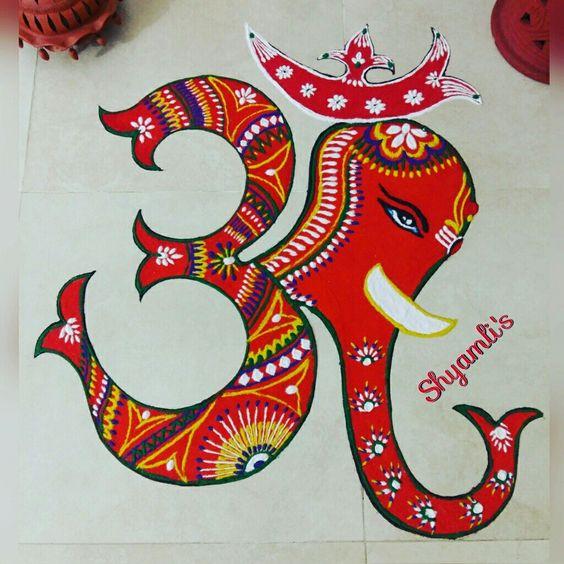 Ganesha with Om - Wedandbeyond
