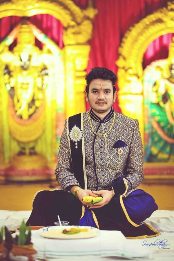 3.Blue Royal Sherwani