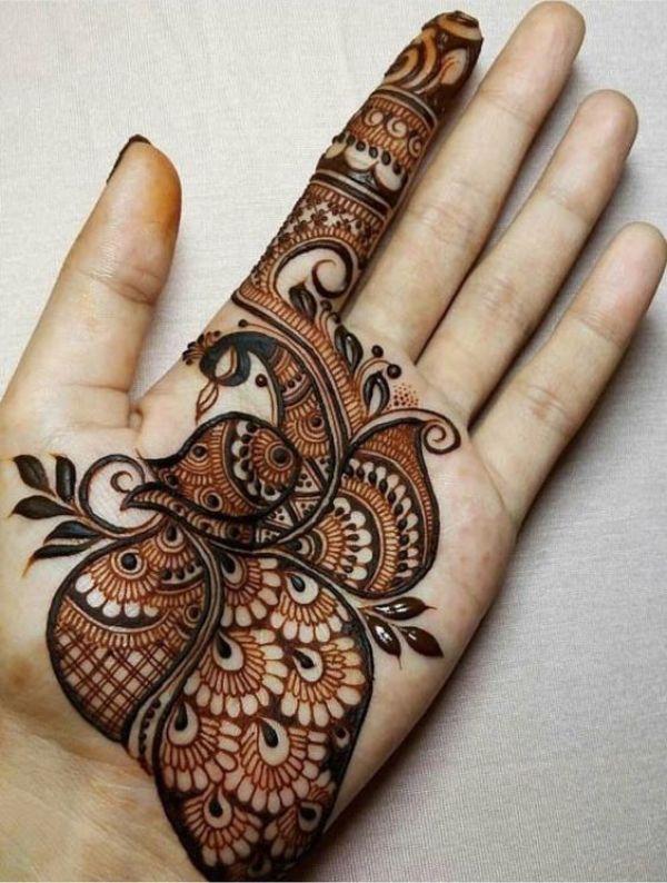 13.Stunning Peacock Mehndi Design
