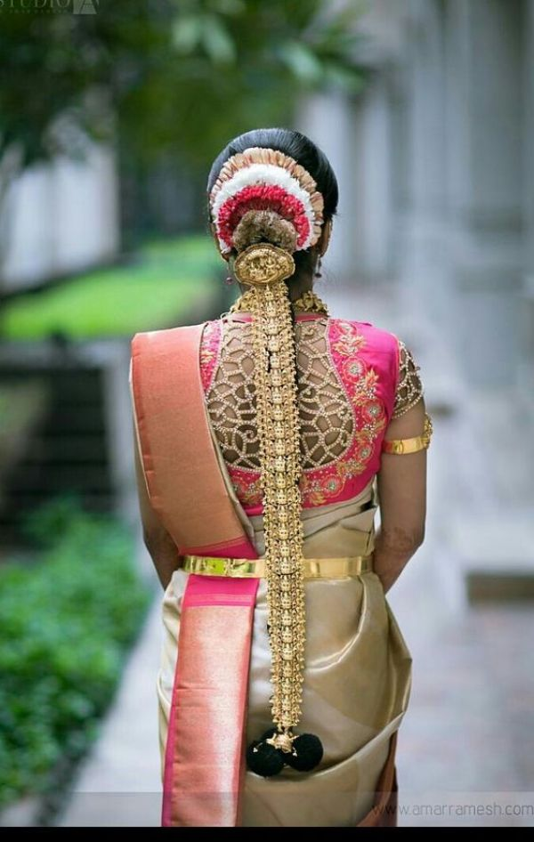 37.Golden Cut work High neck bridal blouse