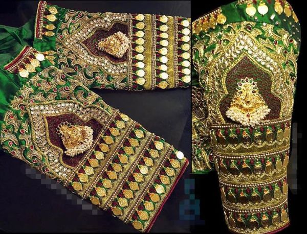 4.Bridal kasu work blouse