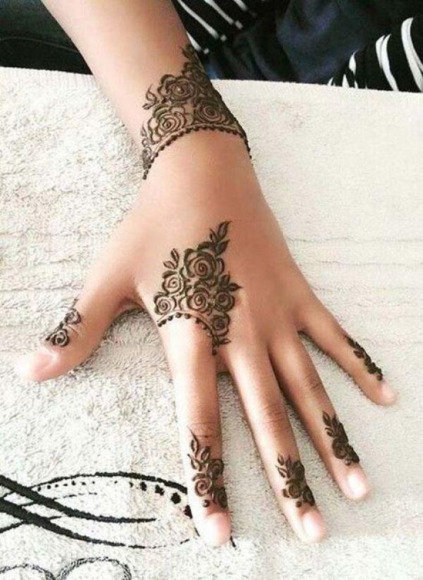 15.Rose Mehndi design #15
