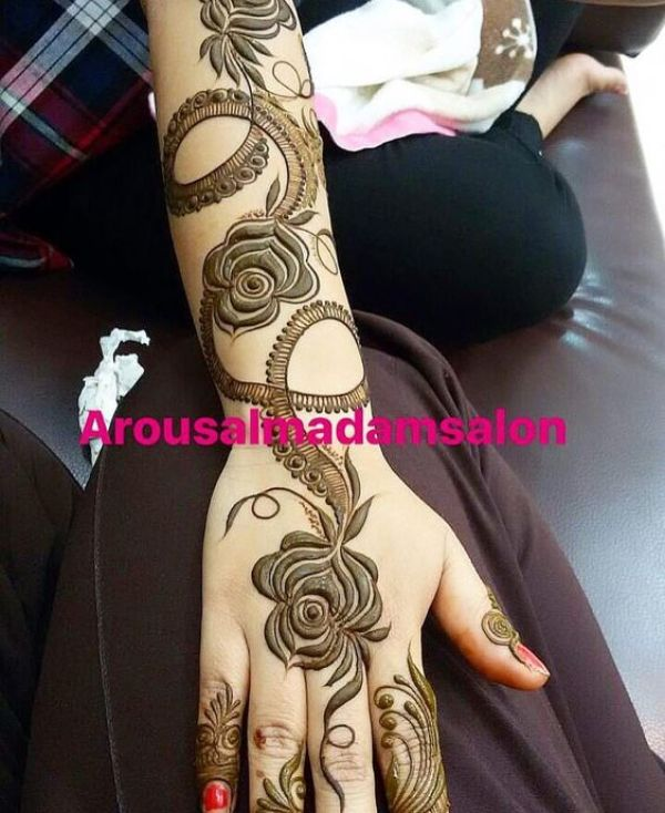 29.Rose Mehndi design #29