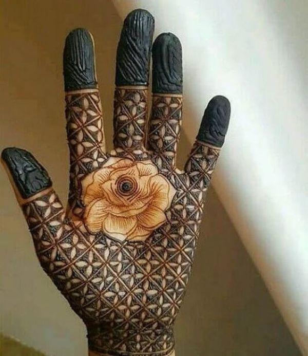 47.Rose Mehndi design #47