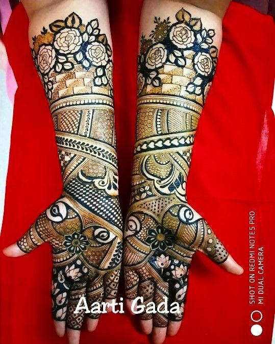 7.Rose Mehndi design #7