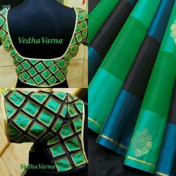 26.Check blouse design #26