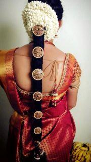 bridal poo jadai hair style