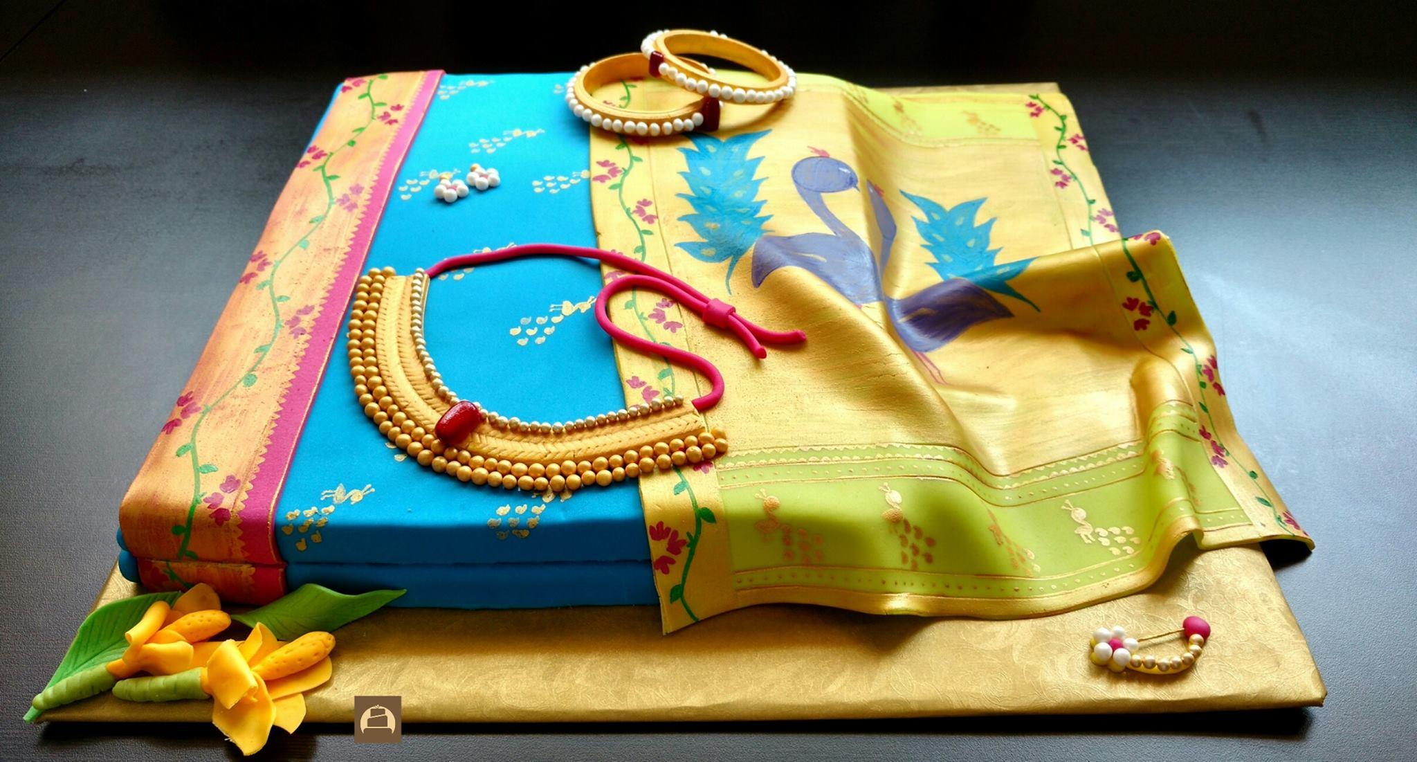 Wedding Saree Cake Photo Gallery Wedandbeyond Com