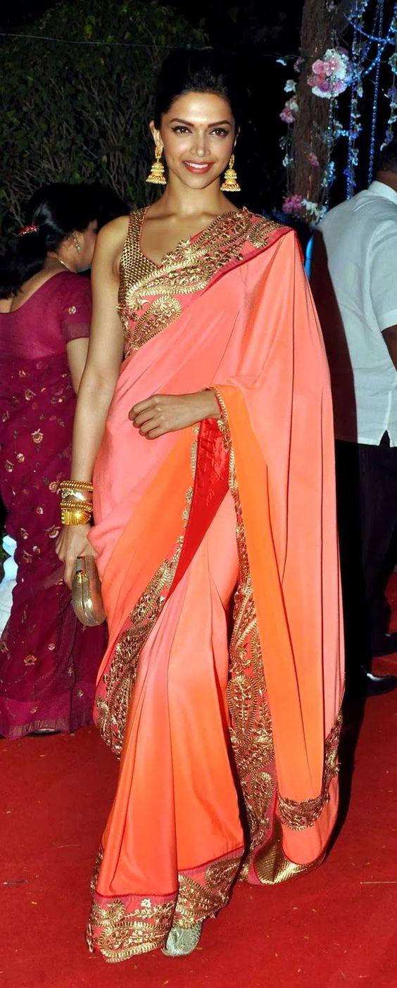 Pink Orange And Golden Color Designer Blouse Photo Gallery Wedandbeyond Com