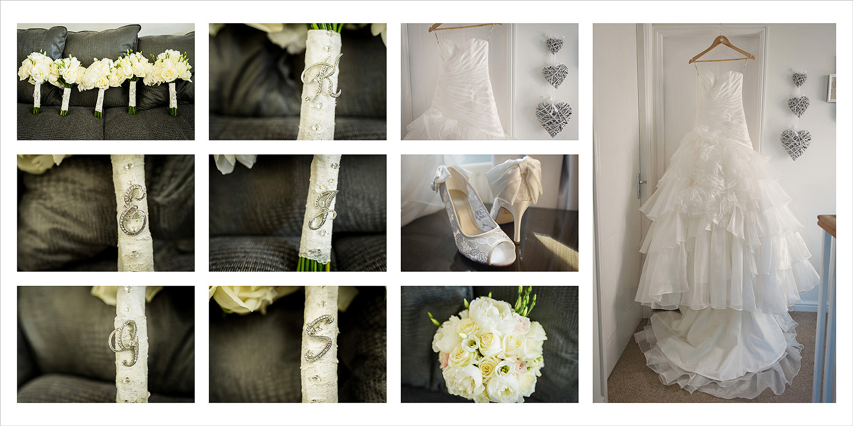 wedding album using grid layout in design