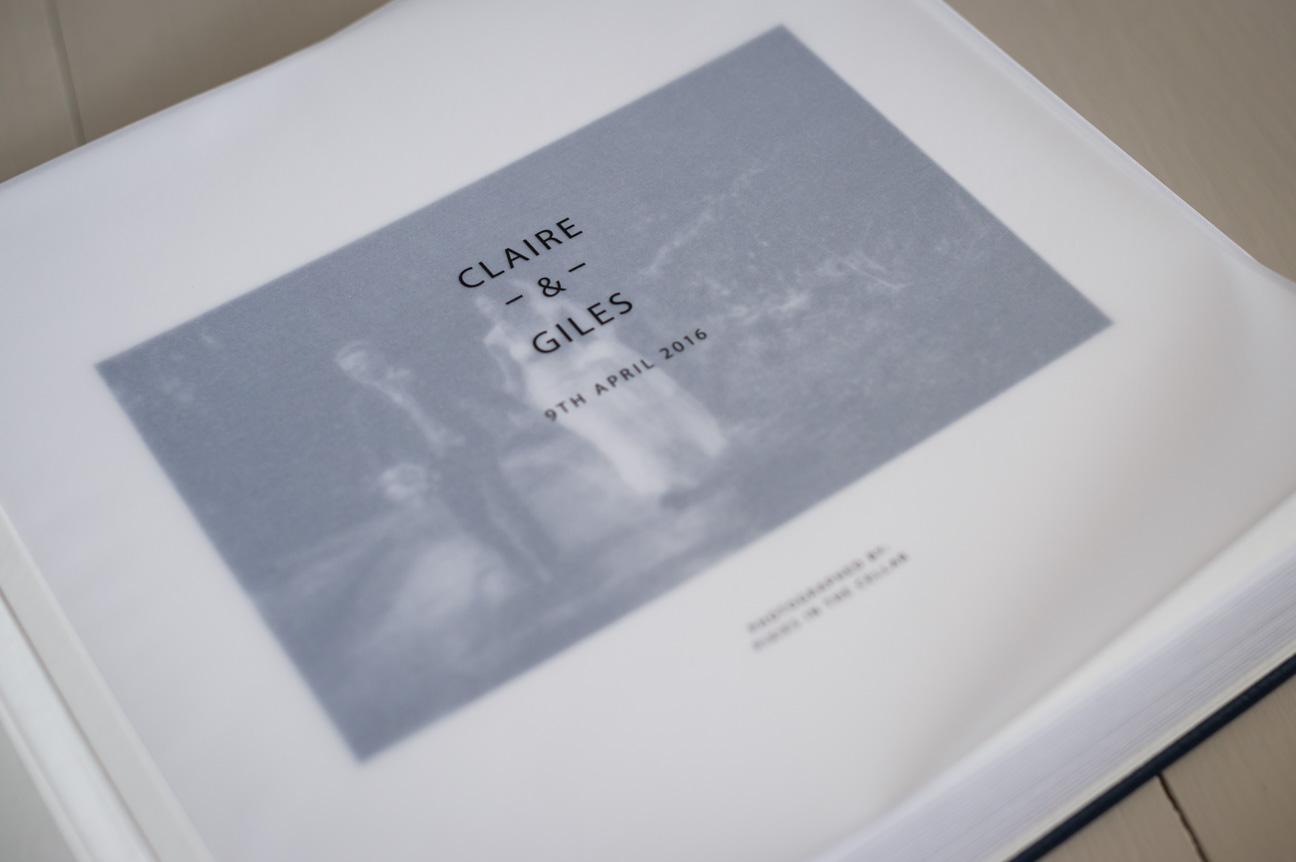 queensberry matted wedding album printed vellum flyleaf