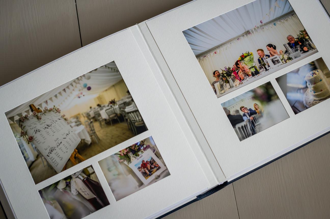 full spread in queensberry 12x12 inch wedding album