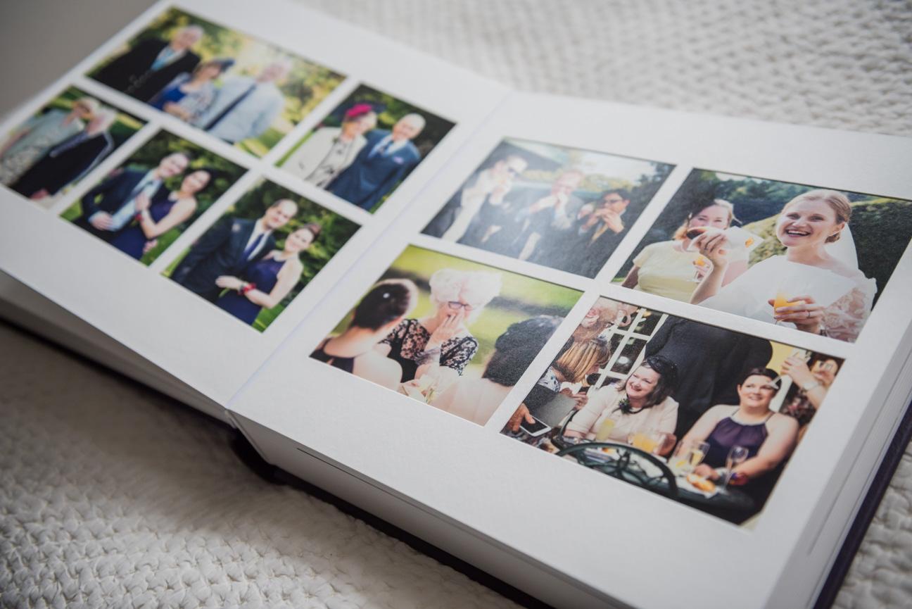 Queensberry Duo wedding album bespoke spread
