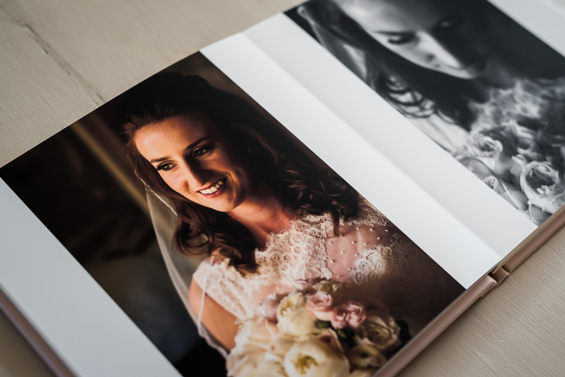colour and black and white bridal portraits