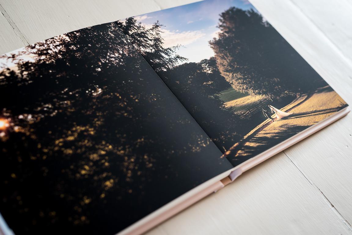 Folio wedding album showing full page spread
